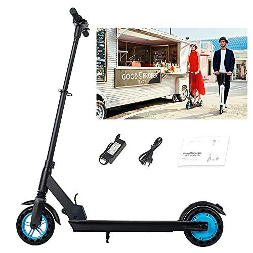 Magic Way Patinete eléctrico Plegable de 8.0 '- Motor 350W - Distancia 40KM - Velocidad máxima 25KM / H - 42V 10.4AH - Pantalla LCD - Patinete eléctrico económico - Negro - Apto para Adultos y niños