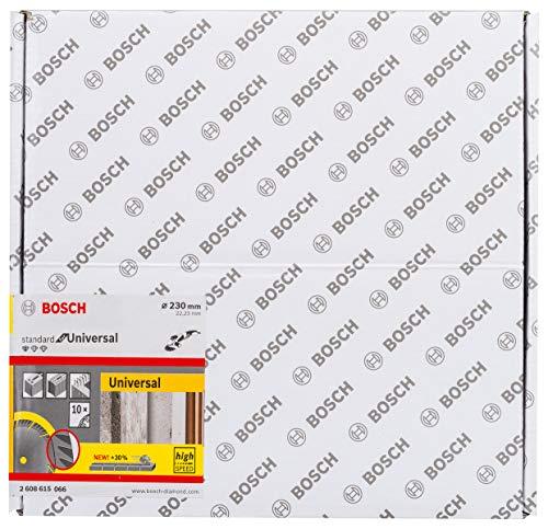 Bosch Professional 10 Stuks Diamantdoorslijpschijf Standard for Universal (beton en metselwerk, 230 x 22,23 mm, accessoire haakse slijper)