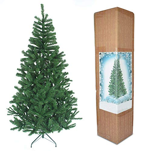 SHATCHI 6ft/180cm Alaskan Pine Green Artificial Christmas Tree 550 Tips Xmas Home Decorations Décor 1.8m, plastic/metal