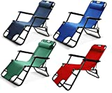 FRATELLO HOME- Metal Folding Living Room Chair,Desk Chair, Lounge Chair, Patio, Outdoor Pool, Lawn,...