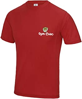 Star and Stripes GymCroc Gym Clothes for Men – Cool Gym Wear Supercool Performance T Shirt – Sportswear Top in Cool Wicki ...