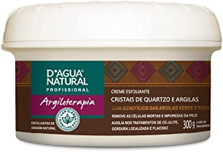 Creme Esfoliante Cristais e Quartzo e Argilas, D'agua Natural, 300 g