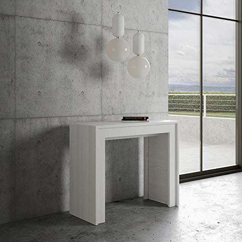 Itamoby Consolle Allungabile Mia Small Bianco Frassino - Fino a 10 Persone - Lunghezza Massima 198 cm