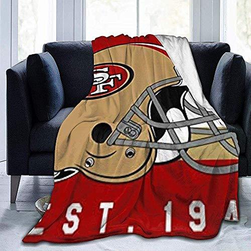 Eileen Powell San Francisco 49ers Ultra-Soft Micro Fleece-Decke für Couch/Wohnzimmer/Warm 50 'x 40'