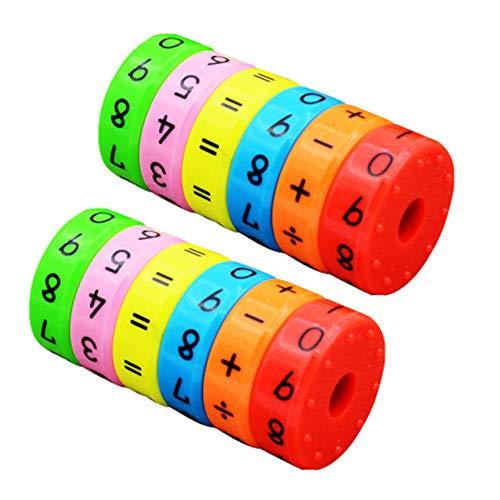 Amasawa Magnetisches Rechnen Spielzeug Kinder Intelligenz Gehirn Entwickeln Spielzeug,Kinder Rechnen Spielzeug,Rechenrolle Mathematik Lernspielzeug (2 Stücke)