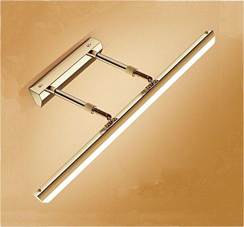 Kastlamp op zonne-energie, met spiegel, badkamerspiegel, verlichting, wastafel, muur, make-upspiegel, voorlicht, badkamer, kleine wastafellamp, energielabel A+