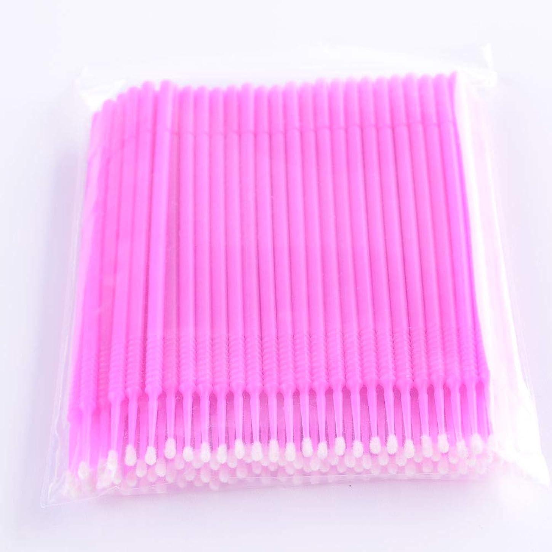 知っているに立ち寄る滅びる販売員PLATINA LASH マイクロスティック 100本入り マイクロブラシ 使い捨て極細綿棒アプリケーター まつげエクステ用 (Fine/Pink)