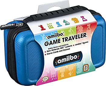 Officially Licensed Nintendo 3DS Amiibo Case – Protective Deluxe Traveler for Storage Display or Carrying Case/Box – Blue
