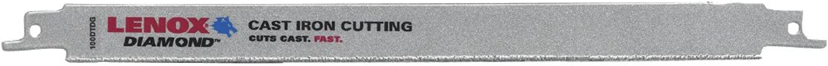 LENOX Tools Reciprocating Saw Blade, Double-Tang, 11-inch, Diamond-Grit (1766356)