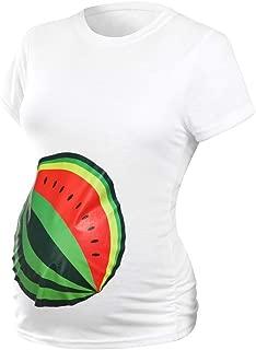 Moonuy Nouvelles Femmes De Maternit/é T-Shirt De Mode Empreinte De B/éb/é 2019 Imprimer Top Tee Femmes /À Manches Courtes Grossesse Tops Long T-Shirt Plus La Taille S-2XL