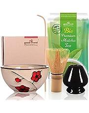 Goodwei Zestaw do ceremonii parzenia herbaty z prawdziwą organiczną japońską matchą (Plum)