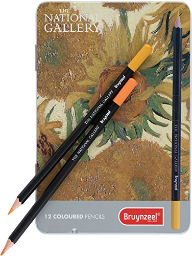 Bruynzeel Colored Pencil Tin Set of 12 The National Gallery''Sunflowers'' (5801M12)