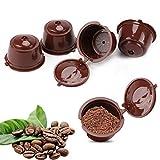 Cápsulas de café rellenables, cápsulas de café café café reutilizables compatibles con...