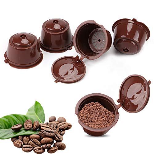 Cápsulas de café rellenables, cápsulas de café café café reutilizables compatibles con máquina Dolce Gusto, tazas de filtro para café molido, filtro café, 5 unidades