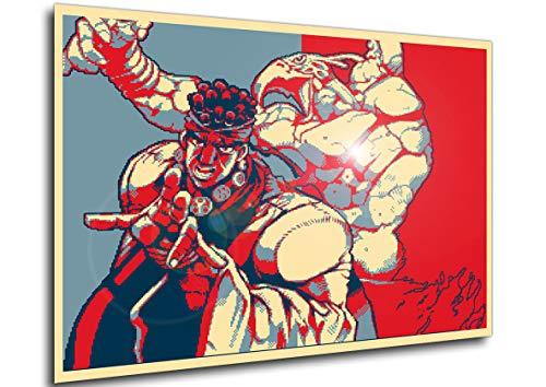 Wall Art Poster JoJo Propaganda Avdol Variant Size A3 (30cm x 42cm/11in x 17in) Unframed Great Gift