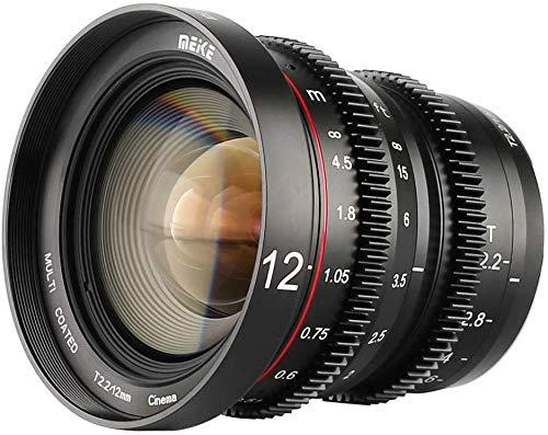 Meike MK 12mm T2.2 groothoek groot diafragma Handleiding Focus Prime Low Distortion Mini Cinema-lens voor M4/3 MFT Olympus, Panasonic Lumix-camera's en BMPCC 4K, Zcam E2