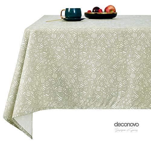 Deconovo Tischdecke Wasserabweisend Lotuseffekt Tischtuch 130x160 cm Hellgrün