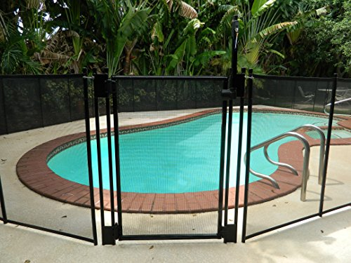 Life Saver Pool Fence GATE48R-DIYc DIY Removable Mesh Safety Fence for Pools, Brown