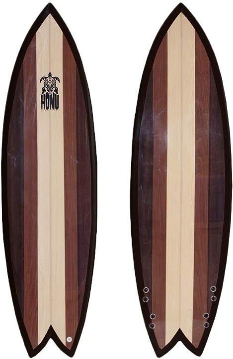Tavola da surf fish 6`2, design retrò, 4 x derive honu B07L6B5K66