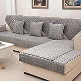 YANGYAYA Acolchado de Felpa,Antideslizante Color sólido Sofá Fundas Universales ' Todo Incluido ' Fundas de Toalla de sofá Protector de Muebles-D 110x105cm(43x41inch)(1PCS)