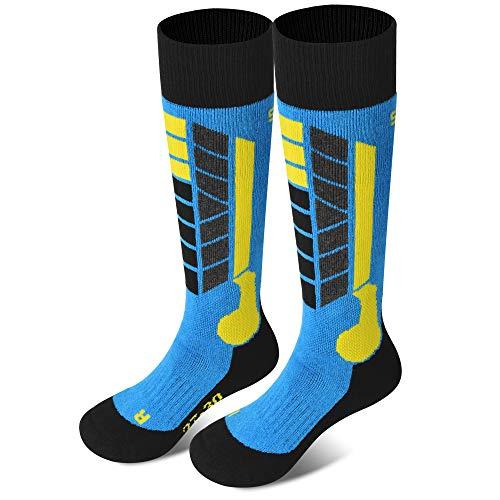 Soared Winter Ski Socks Snowboard Snow Warm Knee Over the Calf OTC High Performance 2 Pairs for Kids Womens Mens