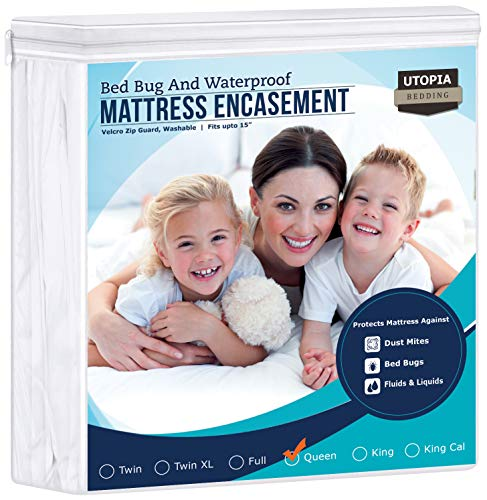 Utopia Bedding Zippered Mattress Encasement - Waterproof...