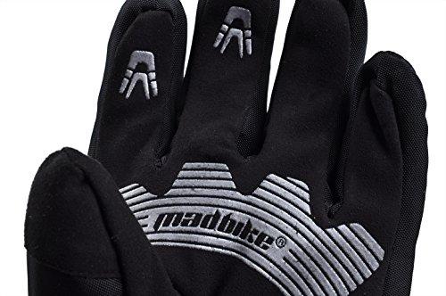 Madbike Motorrad-Handschuhe, wasserdicht mit Karbonfaserschutz - 8