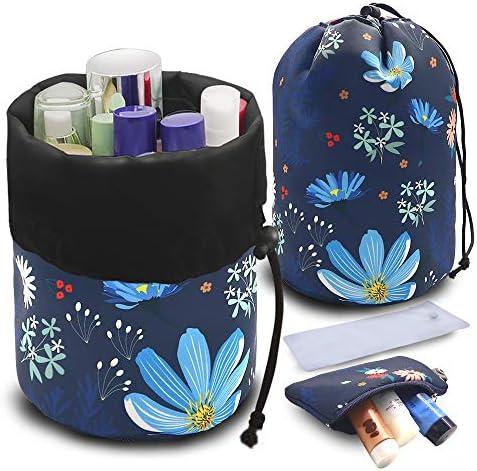 UYRIE Portable Makeup Toiletry Cosmetic Travel Organizer Bag Large Drawstring Hanging Packing product image