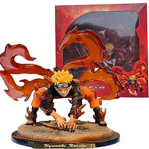 YCHH Naruto Shippuden Kyuubi Naruto Figura de acción Colección Modelo Modelo de Juguete Anime Figuur Kinderen Geschenken Niños y Adornos para niñas Mano para Hacer (Color : Box)