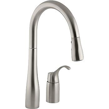 Kohler K 647 Vs Simplice Kitchen Sink Faucet Vibrant Stainless Touch On Kitchen Sink Faucets Amazon Com
