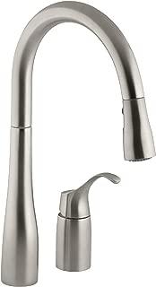 KOHLER K-647-VS Simplice Kitchen Sink Faucet, Vibrant Stainless