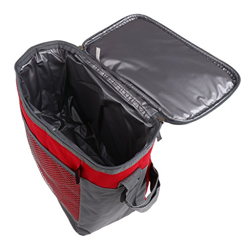 Sharplace Boîte à Lunch avec Sac Isotherme,Boîtes-Repas,Boîte à Lunch+Sac de Rangement - Rouge, 28,5 x 16,5 x 24 cm