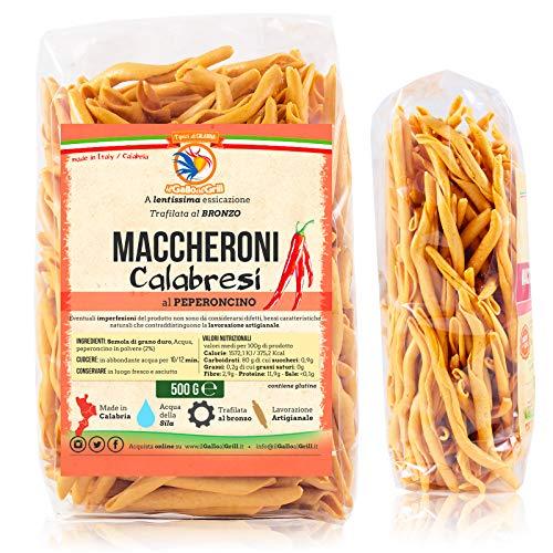 Maccheroni Calabresi al ferretto con peperoncino - trafilata al bronzo - 500g