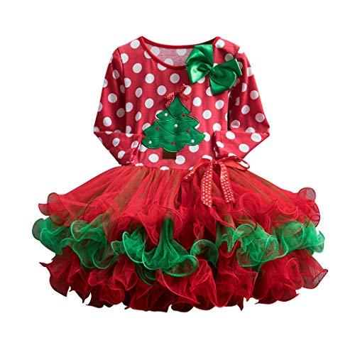 Vestidos para Niñas Tul Navidad Manga Larga Otoño Invierno PAOLIAN Vestidos Tutú de Bebe Niñas Fiesta Elegantes...