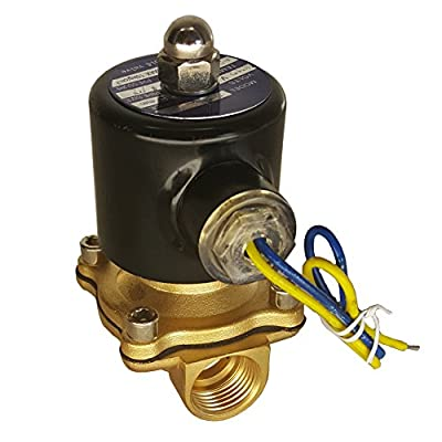 "HFS 110v Ac or 12v Dc Electric Solenoid Valve Water Air 1/4"", 1/2"", 3/4"", 1"" NPT Available (12V DC 1/2"" NPT) by HFS"