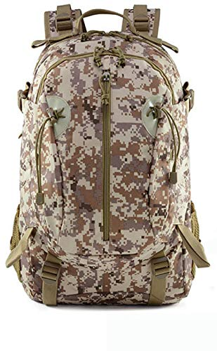 Mountaineering Backpack Camping Hiking Backpack Camouflage Tactical Backpack Large-Capacity Sports Oxford Cloth Waterproof Outdoor Backpack-Desert Digital Color