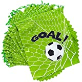 Soccer Party Drawstring Favor Bags (12 x 10 in, 12 Pack)
