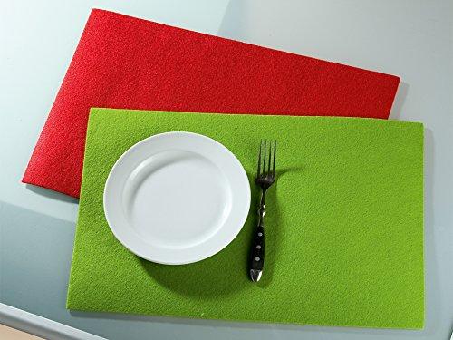 Guilde Feutre Set de Table rectangulaire L Vert 30 x 45 cm