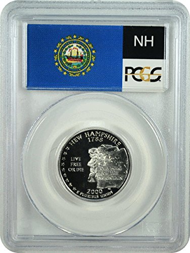 2000 Statehood Quarter New Hampshire Quarter PR-70 PCGS DCAM