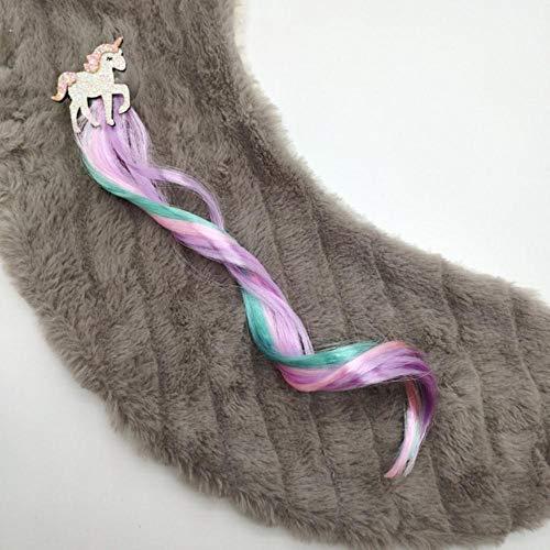 Nieuwe meisjes mooie kleurverloop kleurrijke eenhoorn pruiken haarspelden prinses haaraccessoires hoofdband haarspelden kinderen haaraccessoire 7