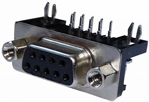 AERZETIX: 3x D-Sub 9 Pin-stekker bescherming gehoekt THT 7,2mm bus