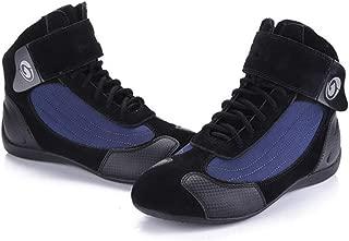 Cycling Shoes, Men's Mountain Bike Shoes Breathable Anti-Slip Cushioning Road Biking Shoes Walking Training Motorcycle Shoes,Blue,43