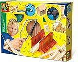 SES-Creative- Hobby e creatività attività Istruttivo ed educativo Giochi in Legno Passatempi Costruzioni Set di Falegnameria per Bambini SES De Luxe, Colore, 944