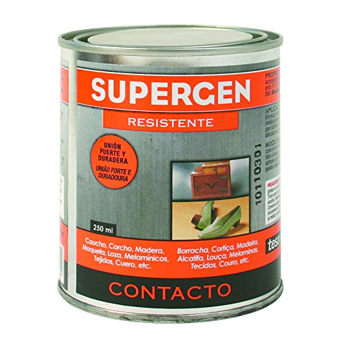 Tesa Tape 14020004 TESA 62600-00000-07-Pegamento de contacto Supergen-Bote 250 ml, Amarillento