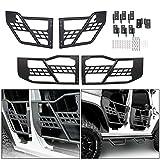 4-Door Set Off Road Front & Rear Tubular Doors Compatible with 2007-2018 Jeep Wrangler JK