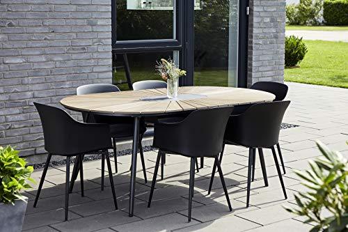 Envy Gartenmöbel Sitzgruppe Terrasse, den Garten oder den Balkon – 7 teilige Essgruppe für 6 Personen in skandinavischen Design, wetterfest und langlebig durch hochwertige Materialien