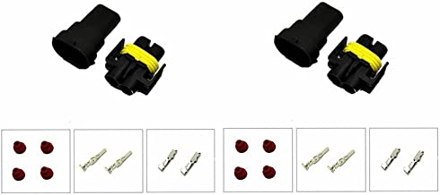 MUYI 2 Pcs H8 H11 880 881 Male and Female Adapter Wiring Harness Sockets Wire Connectors for Headlights Fog Lights