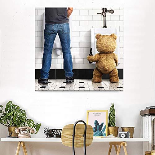 Rahmenlose Malerei Lustiges Toilettenpapier einfache Moderne Leinwand Ölgemälde Poster Hauptdekoration Wandkunst Badezimmer WanddekorationZGQ2231 40X40cm