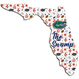 NCAA Florida Gators Unisex University of Florida Floral State Sign, Team Color, 12 inch