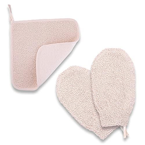 Natural Vegetative Material Body Scrubber And Bath Spa Massage mitt